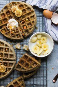 Buckwheat Eggnog Waffles | dishingouthealth.com