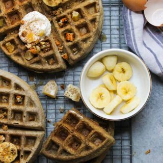 Buckwheat Eggnog Waffles