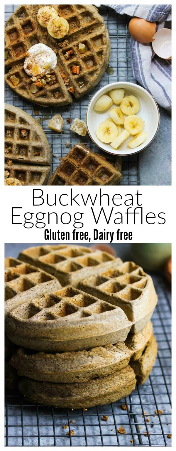 Buckwheat Eggnog Waffles (gluten free, dairy free) | dishingouthealth.com