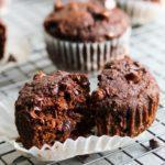 Double Chocolate Beet Muffins   dishingouthealth.com