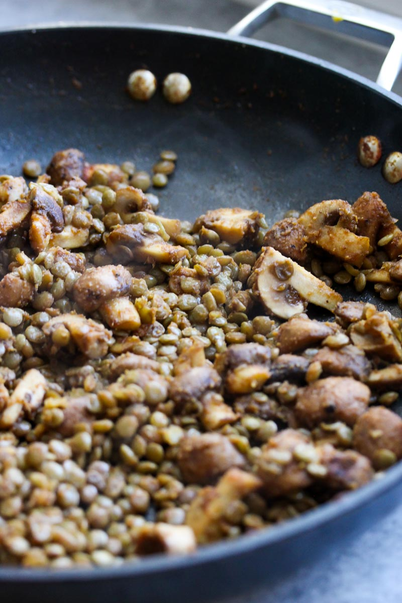 30 Minute Lentil and Mushroom Tacos (vegan, gluten free) | dishingouthealth.com