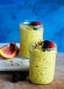 Orange-Scented Turmeric Overnight Oats | dishingouthealth.com