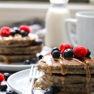 The Fluffiest Buckwheat Banana Pancakes