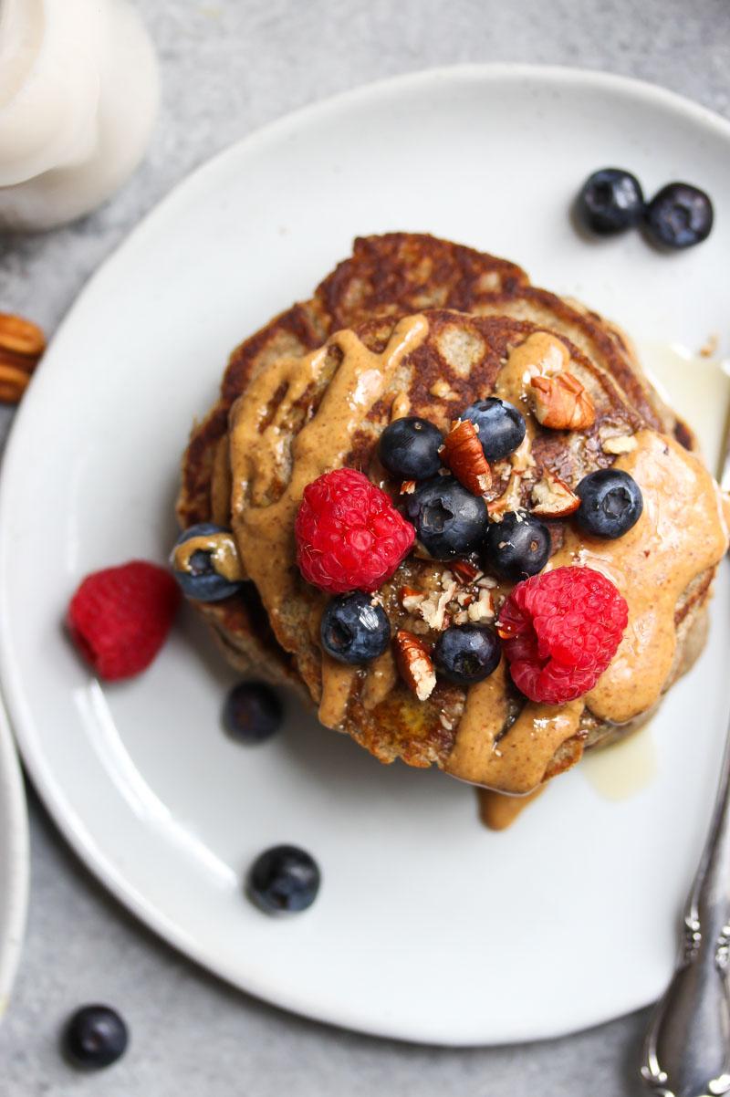 The Fluffiest Buckwheat Banana Pancakes   dishingouthealth.com