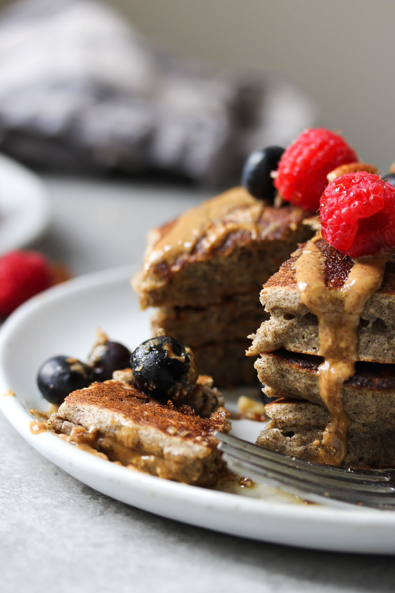 The Fluffiest Buckwheat Banana Pancakes Dishing Out Health