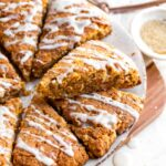 Gluten Free Carrot Cake Scones with Citrus Glaze