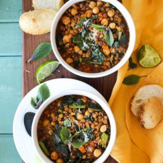 Smoky Chickpea Lentil Soup