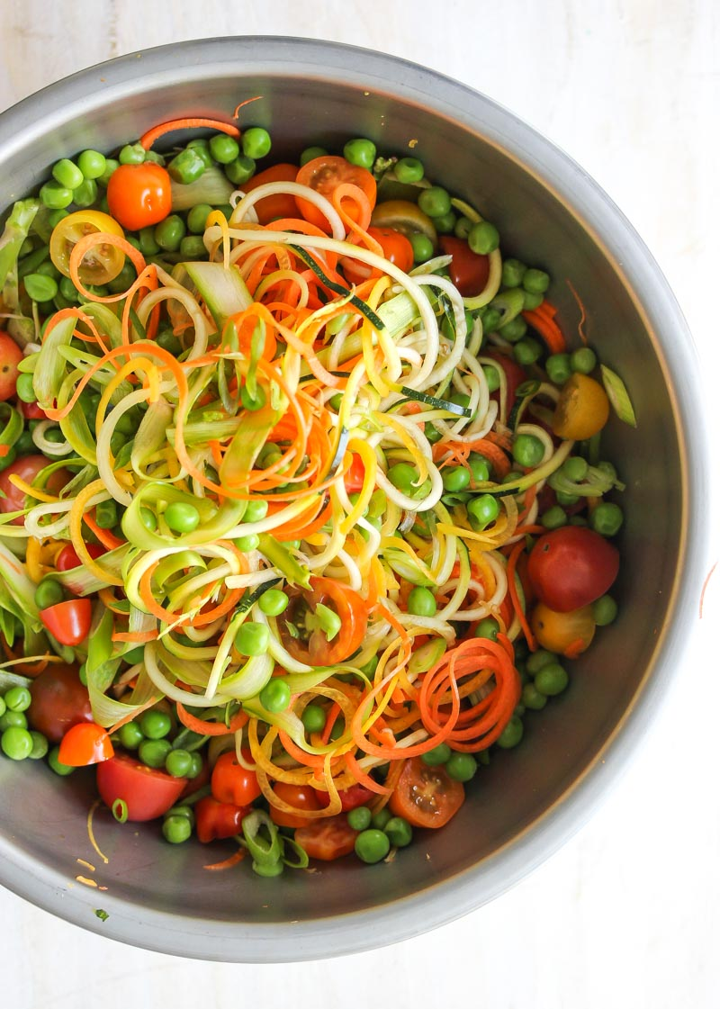 Spring Vegetable Primavera | dishingouthealth.com