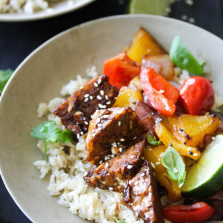 Orange Teriyaki Tempeh Bowls