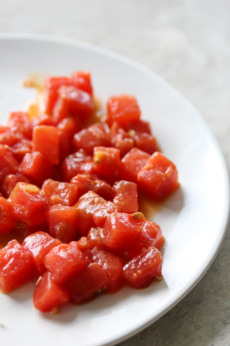 Watermelon-Sesame Poke Bowls | dishingouthealth.com