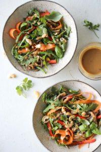 Soba Salad with Sesame-Cashew Sauce   dishingouthealth.com