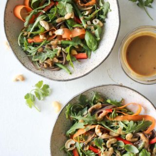 20-Minute Soba Salad with Sesame-Cashew Sauce