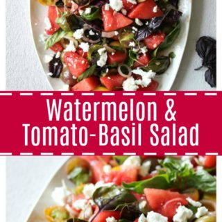 Watermelon and Tomato-Basil Salad