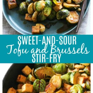 Sweet-and-Sour Tofu and Brussels Stir-Fry