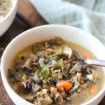 Wild Rice and Mixed Mushroom Soup   dishingouthealth.com