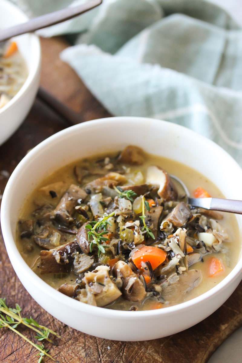 Wild Rice and Mixed Mushroom Soup | Dishing Out Health