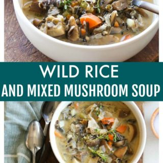 Wild Rice and Mixed Mushroom Soup | dishingouthealth.com
