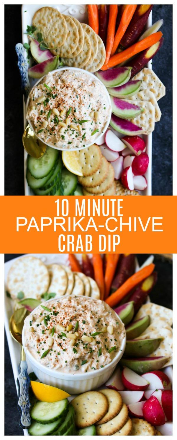10-Minute Paprika-Chive Crab Dip