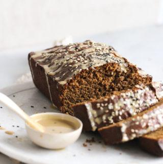Gingerbread-Tahini Banana Bread