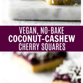 No-Bake Coconut-Cashew Cherry Squares