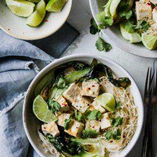 30-Minute Lemongrass Coconut Tofu Noodle Bowls