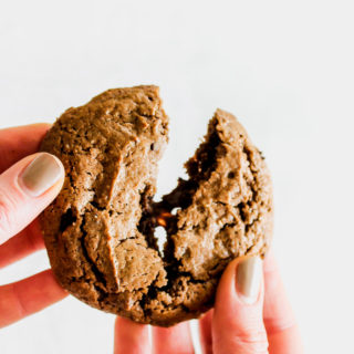 Flourless Double Chocolate Almond Butter Cookies