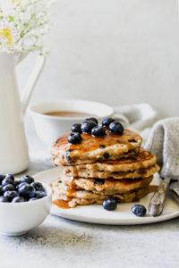 Whole-Grain Blueberry-Chai Buttermilk Pancakes