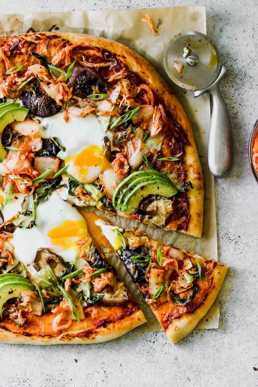 The Ultimate Kimchi Breakfast Pizza