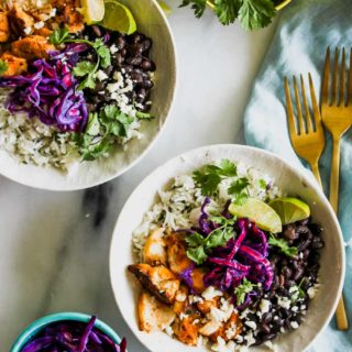 Fish Taco Bowls with Cilantro-Lime Rice