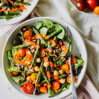 Wild Rice and Bean Salad with Red Pepper Miso Dressing