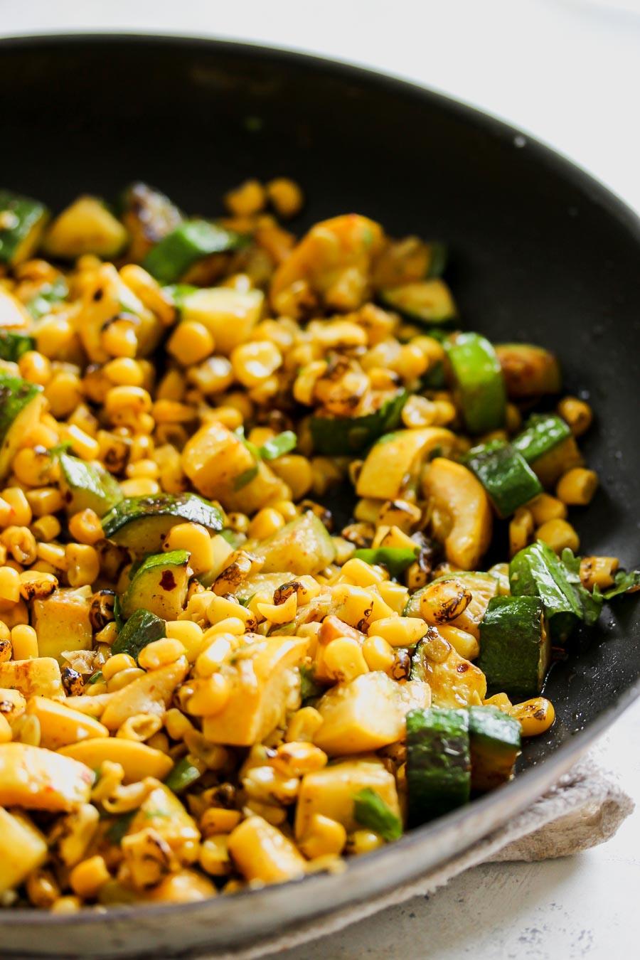 20-Minute Summer Squash and Corn Fiesta Salad