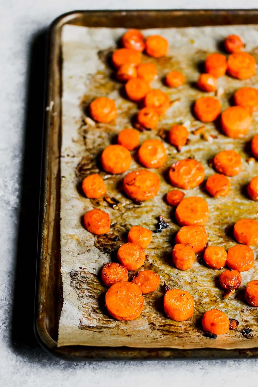 Balsamic-Roasted Carrots with Farro and Artichoke Gremolata