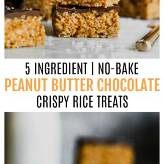 5 Ingredient Peanut Butter Chocolate Crispy Rice Treats