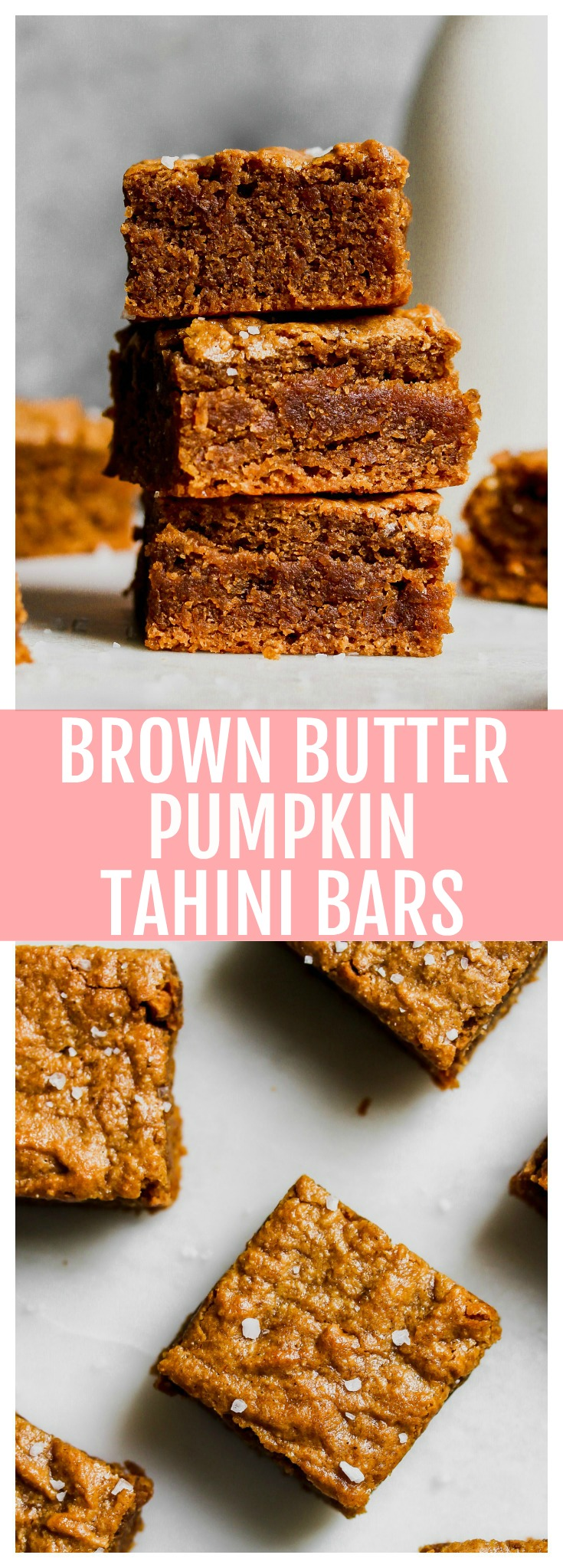 Pumpkin Bars with Tahini and Brown Butter