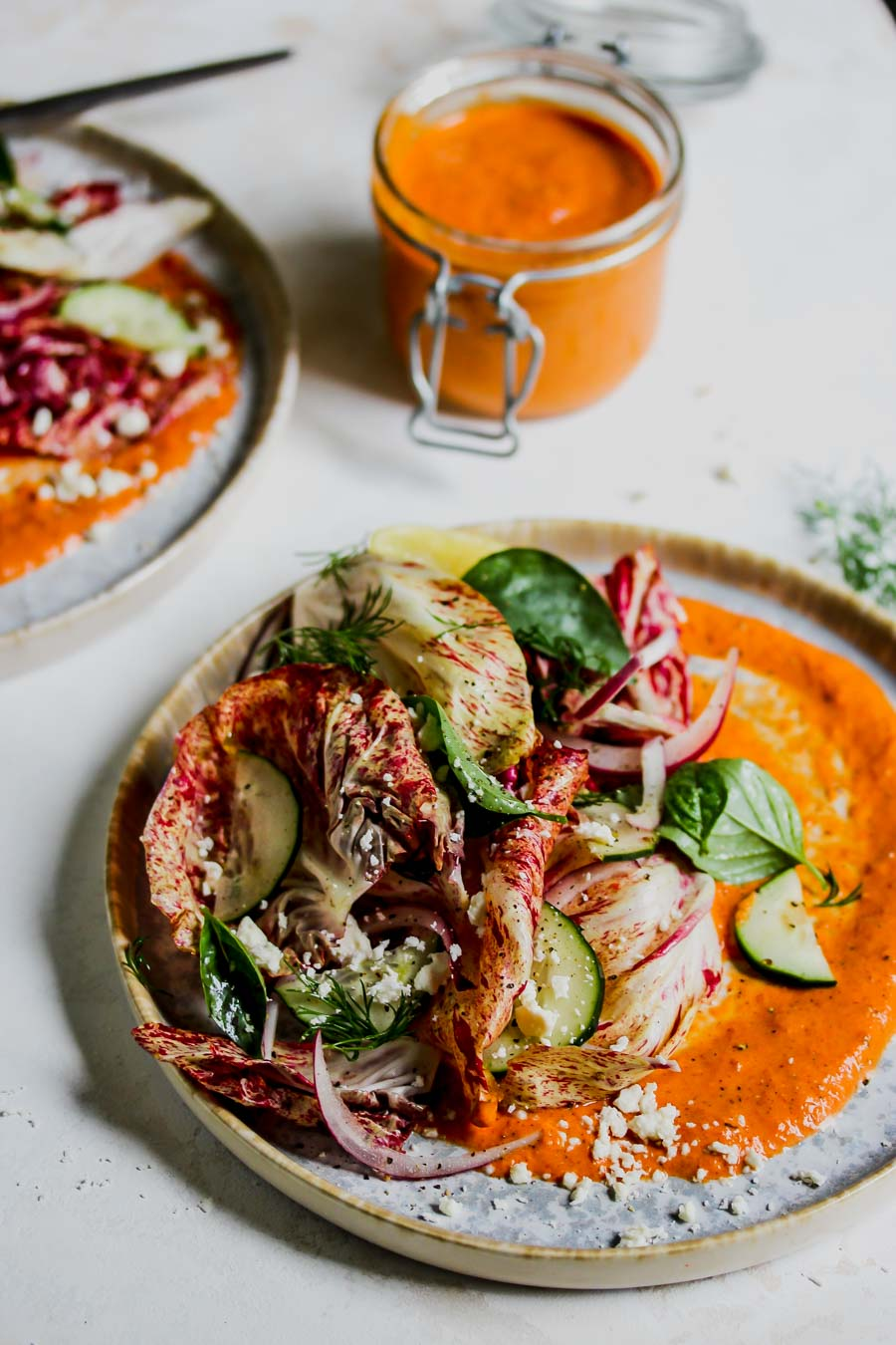 5 Minute Almond Butter Romesco Sauce