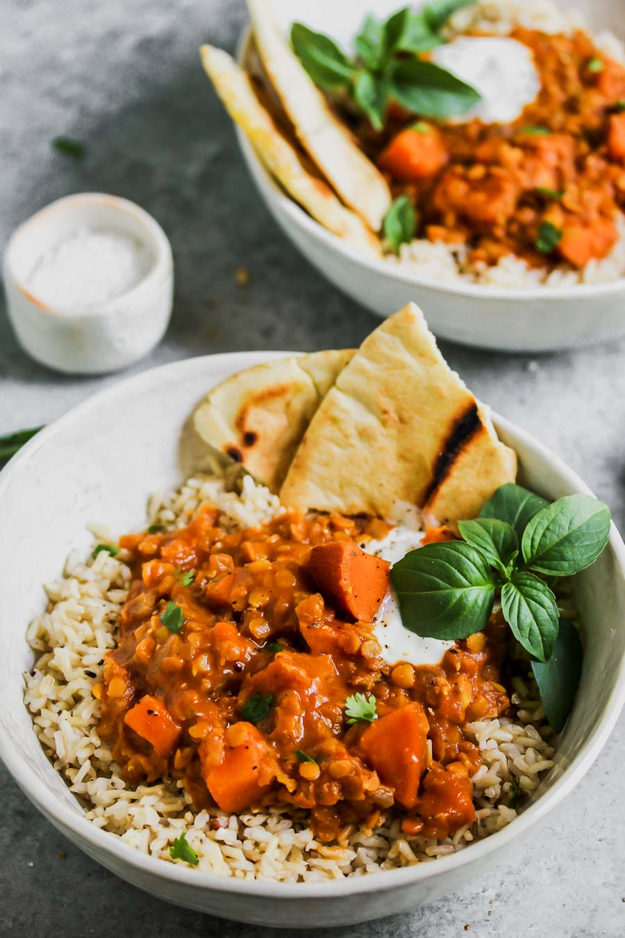 Slow Cooker Sweet Potato and Lentil Tikka Masala (Vegan)