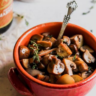 Easy 5 Ingredient Marsala Mushrooms