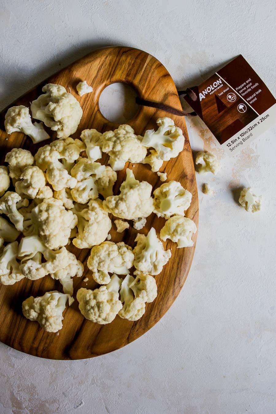 5 Ingredient Skillet Cauliflower and Gouda Gratin