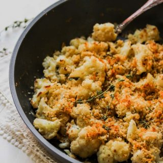 5 Ingredient Skillet Cauliflower and Gouda Gratin