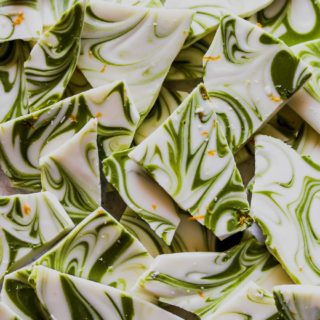 Matcha-Tahini White Chocolate Bark