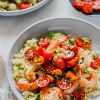 20 Minute Shrimp and Tomato-Fennel Couscous