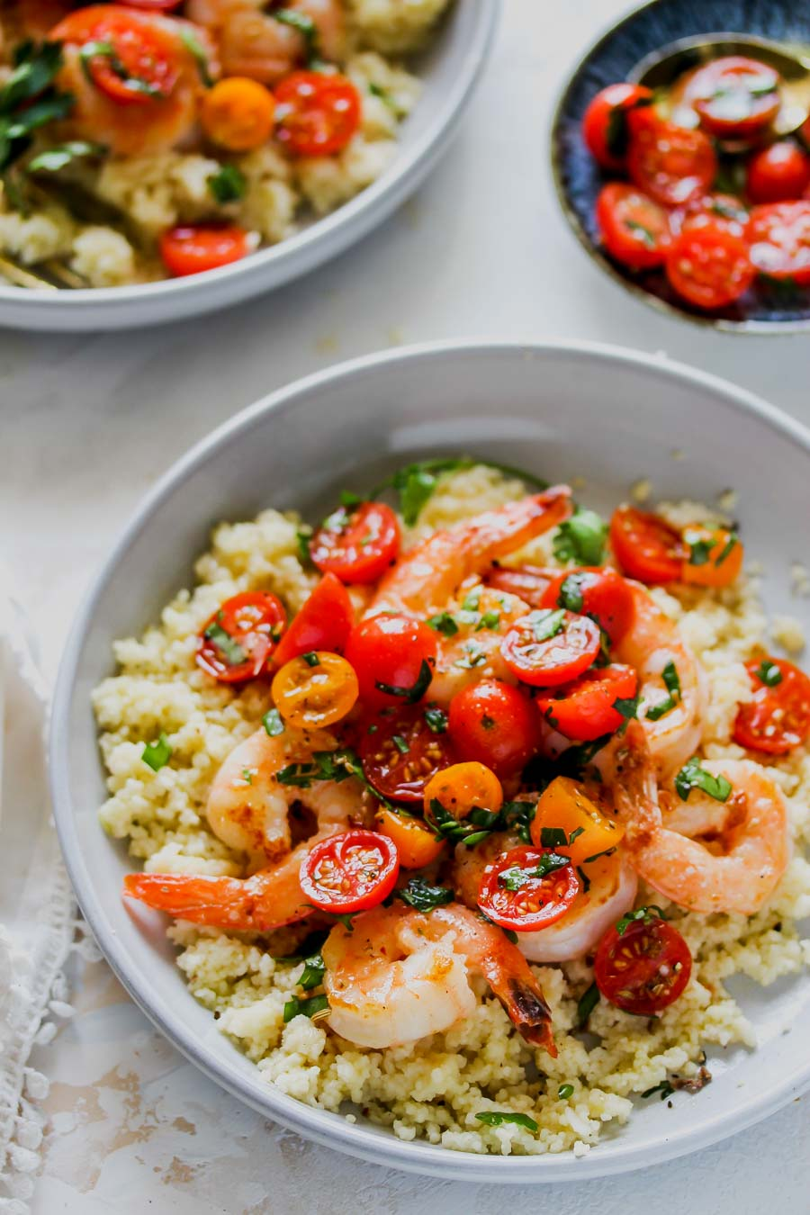 20 Minute Shrimp and Tomato-Fennel Couscous