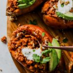 Smoky Lentil Stuffed Sweet Potatoes (Vegan)