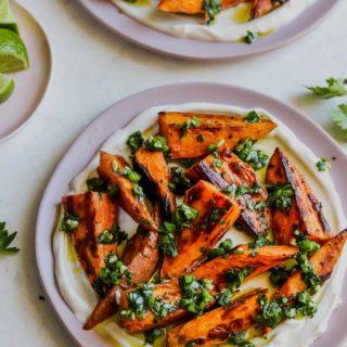 5 Ingredient Sweet Potatoes with Cilantro Gremolata