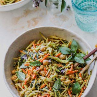 10 Minute Thai Broccoli and Chickpea Salad