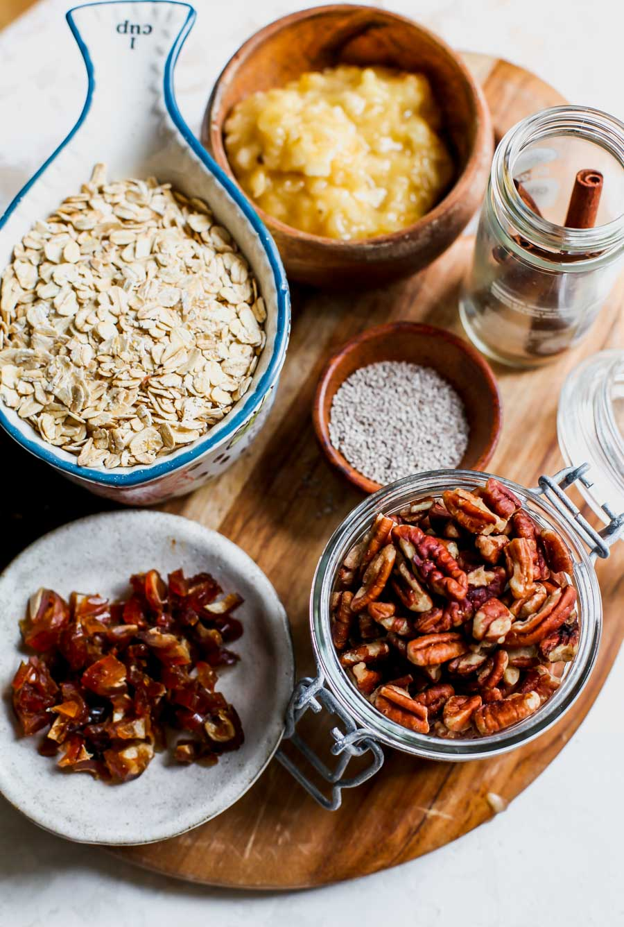 Chai Spice Baked Oatmeal with Pecan Crumble