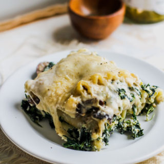 Spinach and Pesto White Lasagna