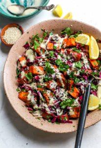 Sesame Sweet Potato and Radicchio Salad