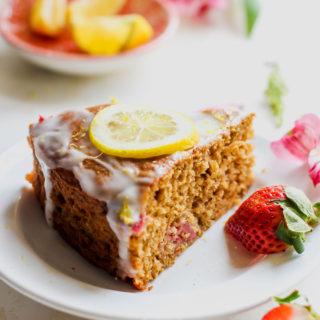 Strawberry-Lemon Cardamom Brunch Cake