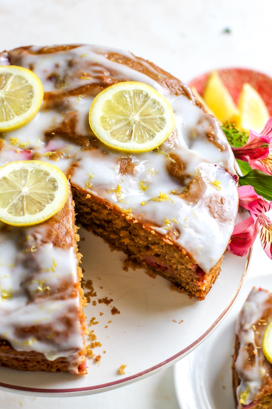 Strawberry-Lemon Cardamom Brunch Cake